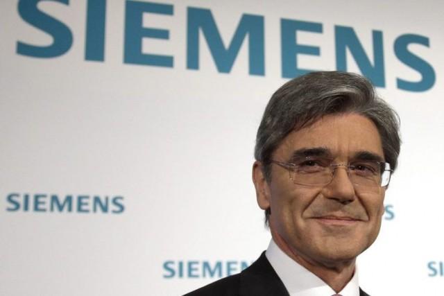 Joe Kaeser, le PDG du conglomérat allemand Siemens.... (Photo Michael Sohn, AP)