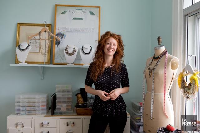 La designer de bijoux Charlotte Hosten a fermé... (PHOTO ALAIN ROBERGE, LA PRESSE)