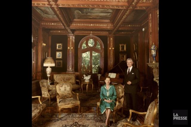 David Macdonald Stewart et Liliane Stewart au Château... (Photo archives La Presse)