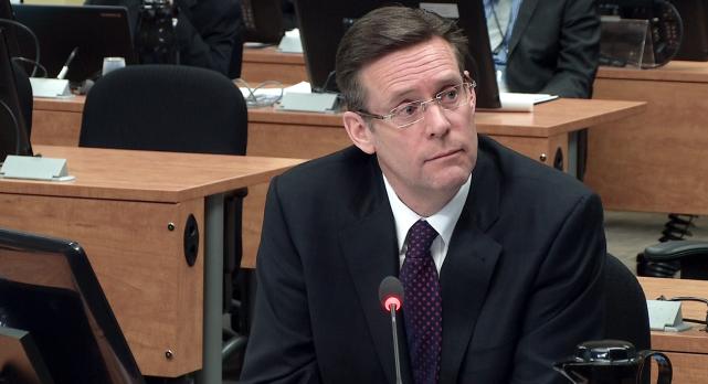 L'ex-directeur des travaux publics de Montréal, Robert Marcil,... (Photo tirée d'une vidéo)