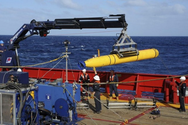 Le robot sous-marin Bluefin-21.... (PHOTO ARCHIVES ASSOCIATED PRESS)