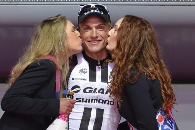 Marcel Kittel, vainqueur de la deuxième tranche du... (Photo Giuan Mattia D'Alberto, AP)