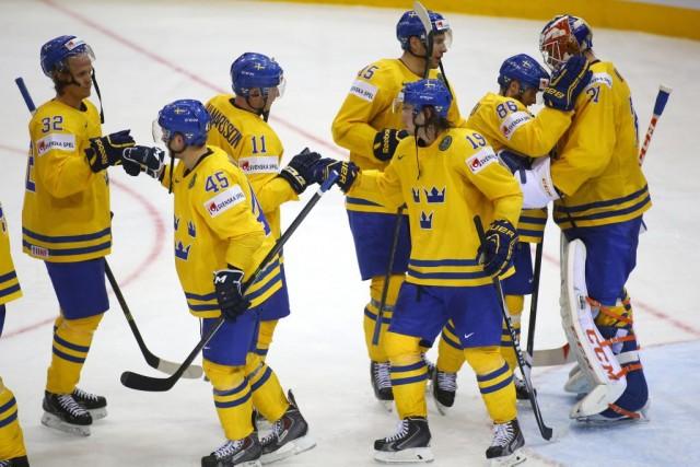 La Suède a gagné 3-0 contre le Danemark.... (Photo Sergei Grits, AP)