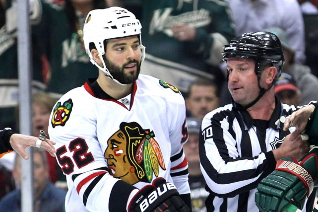 Brandon Bollig... (Photo Brace Hemmelgarn, USA Today)