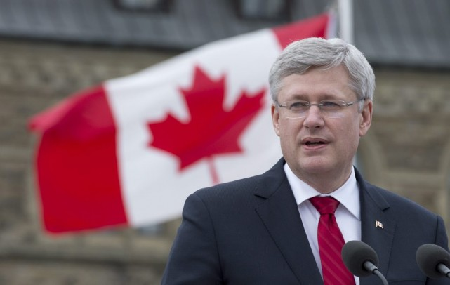 Le premier ministre Stephen Harper....