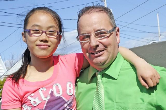 Stéphane Ouellet et sa fille Léa ont appris... ((Photo Gimmy Desbiens))