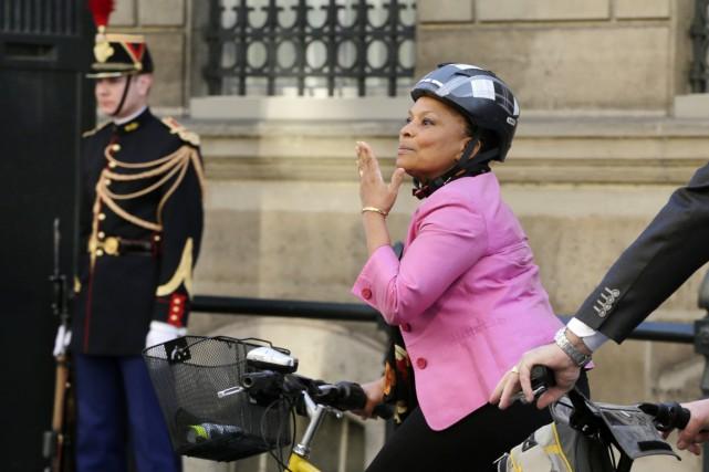La ministre française de la Justice Christiane Taubira... (PHOTO JACKY NAEGELEN, ARCHIVES REUTERS)