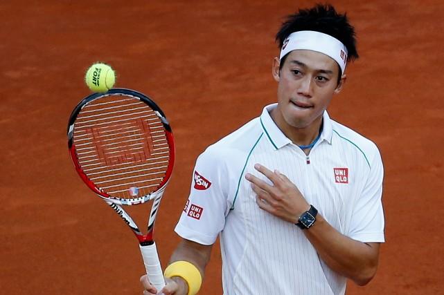 Le Japonais Kei Nishikori a atteint la finale... (Photo Andrea Comas, Reuters)