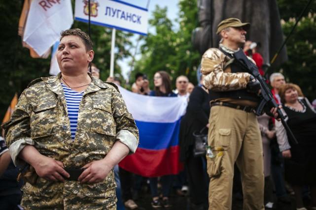 Côté ukrainien, Ottawa a, entre autres, sanctionné des... (Photo DIMITAR DILKOFF, AFP)