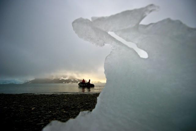 La fonte des grands glaciers de l'ouest de l'Antarctique, qui contiennent assez... (Photo VANDERLEI ALMEIDA, AFP)