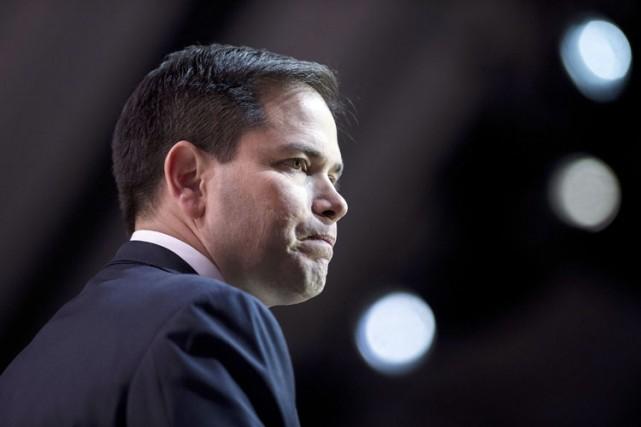 L'aspirant à l'investiture présidentielle républicaine Marco Rubionie que... (Photo: AFP)