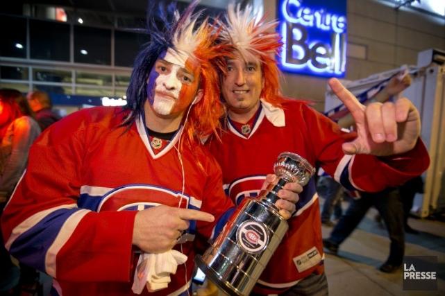 Les célébrations de la victoire du Canadien de Montréal n'ont pas donné lieu à... (Photo: David Boily, La Presse)