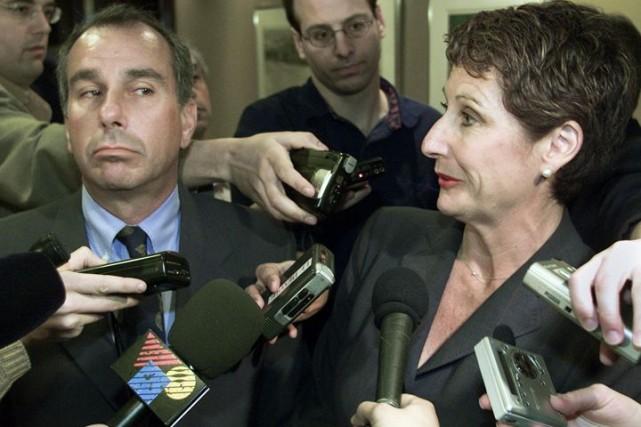 Micheline Charest (décédée en avril 2004) et RonaldWeinbergavaient... (Photo archives La Presse Canadienne)