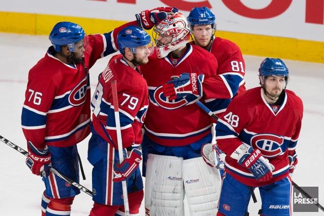Les joueurs du Canadien ont formé une vraie... (Photo Robert Skinner, La Presse)