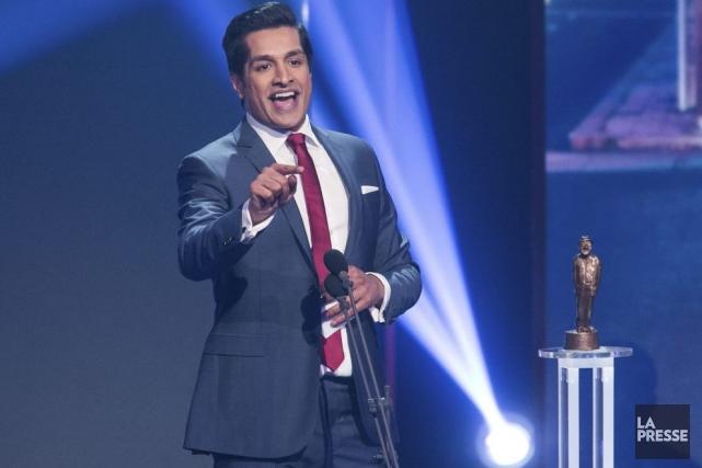 Sugar Sammy a remporté l'Olivier de l'année dimanche... (Photo: Hugo-Sébastien Aubert, La Presse)