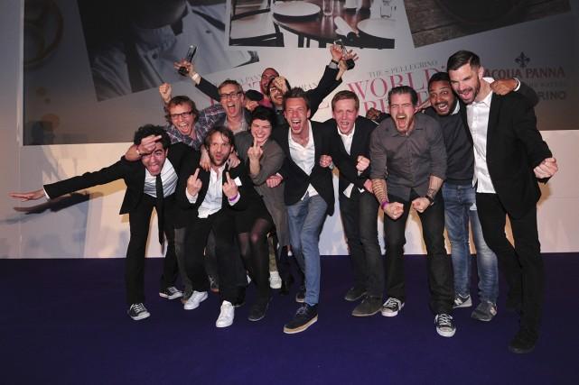L'équipe du restaurant danois Noma célèbre sa première... (Photo Cart Court, Archives AFP)