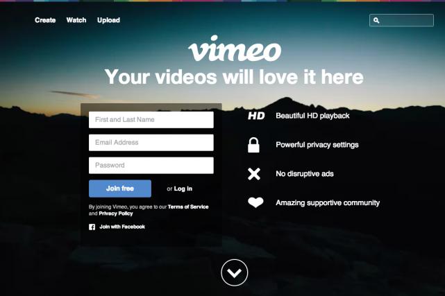 Vimeo a été ajouté à une liste comprenant...