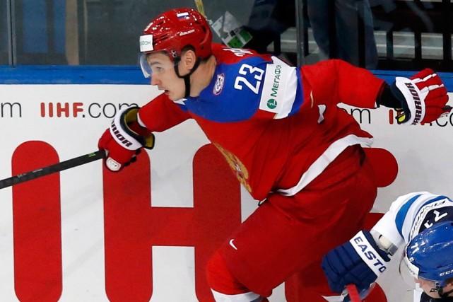 Le défenseur russe Dmitri Orlov.... (Photo Alexander Demianchuk, Reuters)