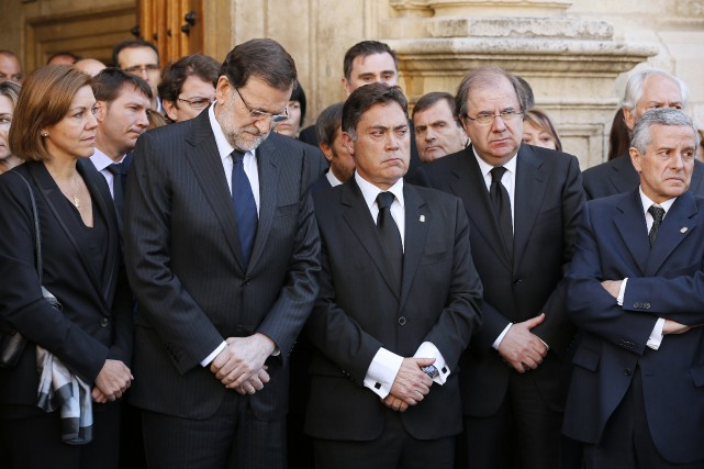 Le Parti populaire du chef du gouvernement Mariano... (Photo CESAR MANSO, AFP)