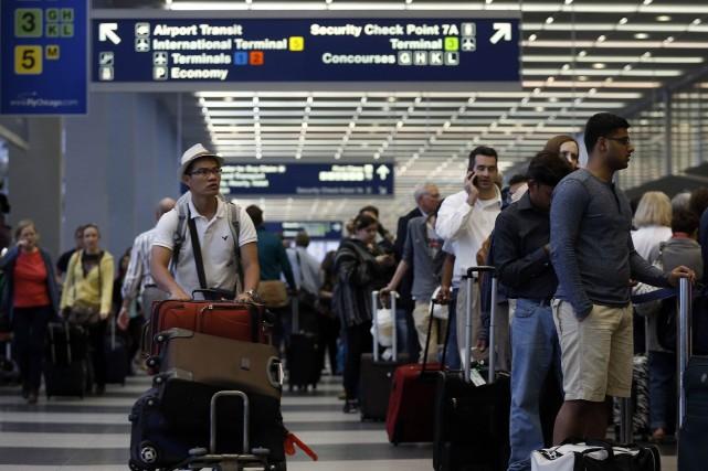 L'aéroport O'Hare est l'un des plus importants des... (PHOTO JIM YOUNG, REUTERS)