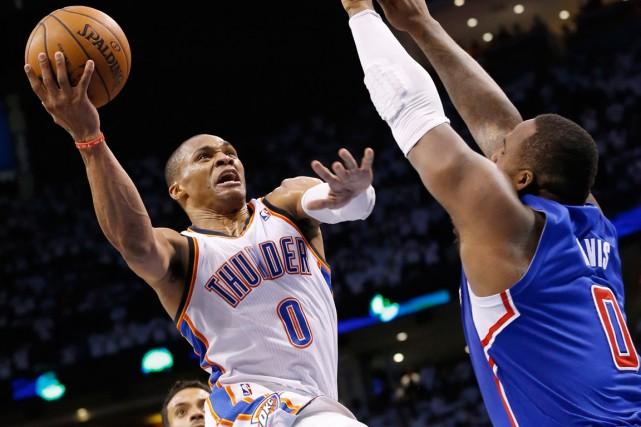 Avec 38 points,Russell Westbrook a été le grand... (Photo AP)