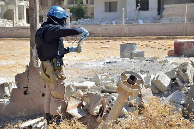 L'Organisation pour l'interdiction des armes chimiques et les... (PHOTO ARCHIVES AP)