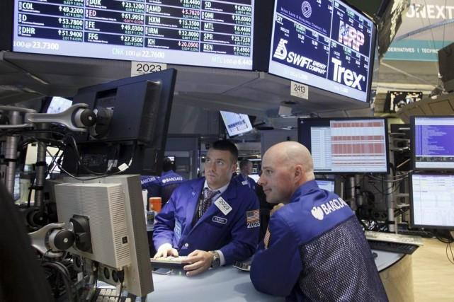Le marché marquait une pause en début de... (Photo David Karp, AP)
