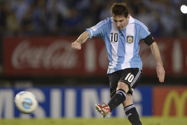 Lionel Messi pourra-t-il enfin guider l'Argentine au sommet?... (Photo Juan Mabromata, AFP)