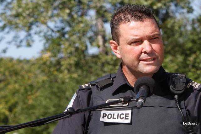 Le sergent Jean-Paul Lemay confirme qu'un employé du... (Archives, LeDroit)