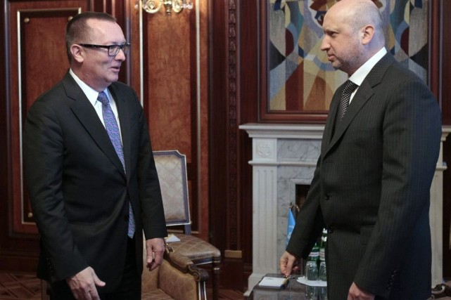 Le secrétaire de l'ONU aux affaires étrangères, Jeffrey... (Photo Sergei Chuzavkov, archives Associated Press)