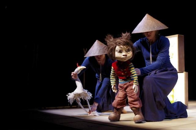 Une scène du spectacle de marionnette Rosépine.... (Photo fournie par la production)