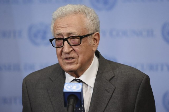 Lakhdar Brahimi... (Photo Stan Honda, Agence France-Presse)