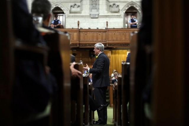 Le premier ministre, Stephen Harper... (Photo CHRIS WATTIE, Reuters)