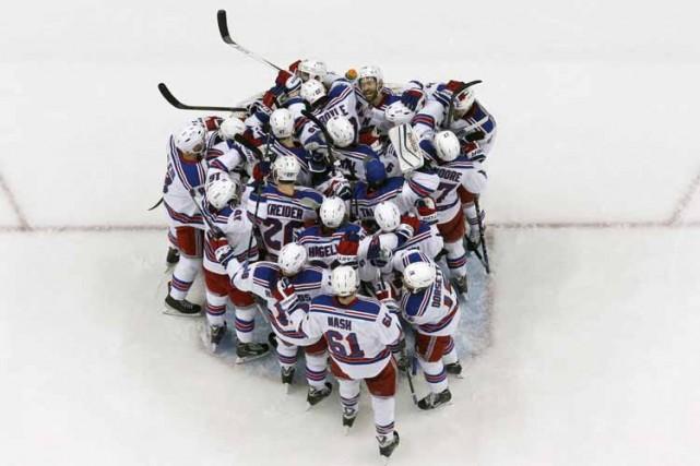 La plus récente victoire des Rangers de New York dans un match no 7 est venue... (Photo: AP)