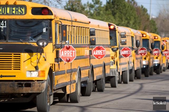 Le nombre d'élèves transportés a diminué au fil... (Photothèque Le Soleil)