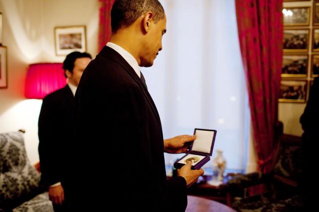 Le Nobel de la paix avait été décerné... (PHOTO PETE SOUZA, ARCHIVES MAISON-BLANCHE)