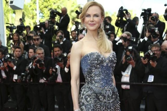 C'est vrai qu'elle est impériale, Nicole Kidman, du haut de ses presque six... (Photo: AP)