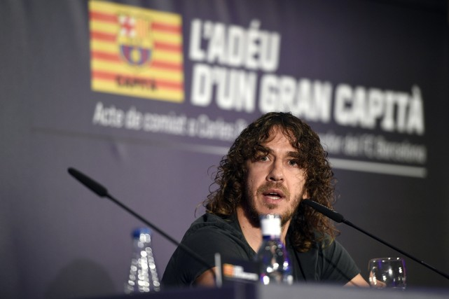 Le capitaine du FC Barcelone Carles Puyol avait... (Photo Lluis Gene, archives AFP)