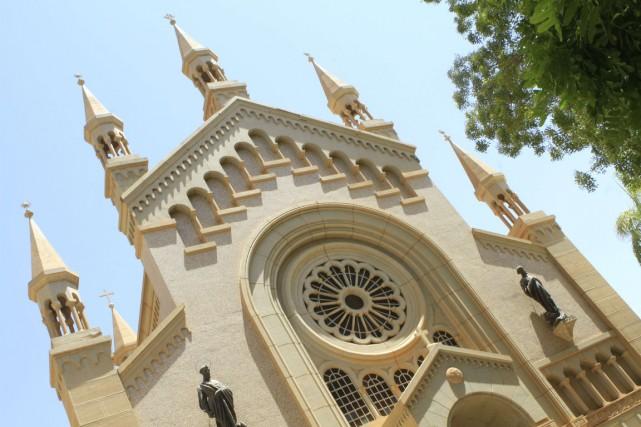 La Cathédrale catholique de St. Matthews, à Khartoum,... (PHOTO ASHRAF SHAZLY, AFP)