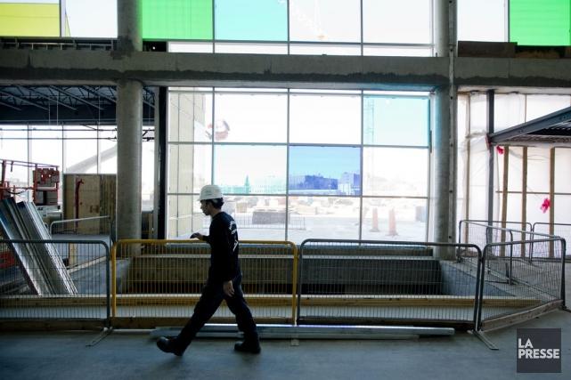 Le chantier du CUSM... (Photo Marco Campanozzi, La Presse)