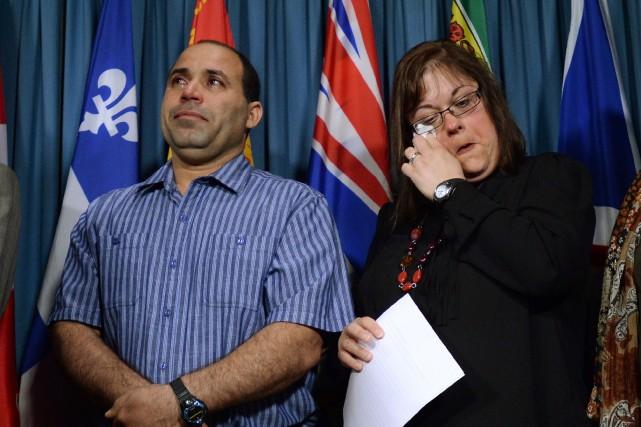 Mohammed Harkat et son épouseont réagi avec émotion... (La Presse Canadienne)