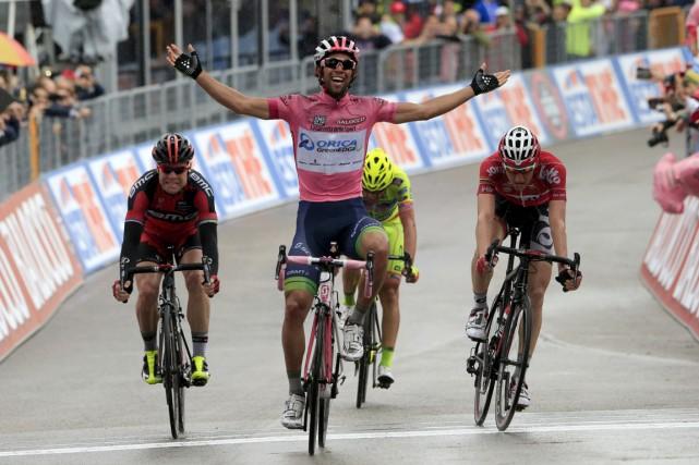 Avec sa victoire d'étape, l'Australien Michael Matthews a... (Photo Luk Benies, AFP)