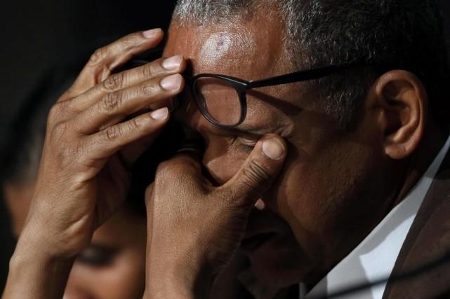 Le réalisateur Abderrahmane Sissako en conférence de presse.... (Photo: Reuters)