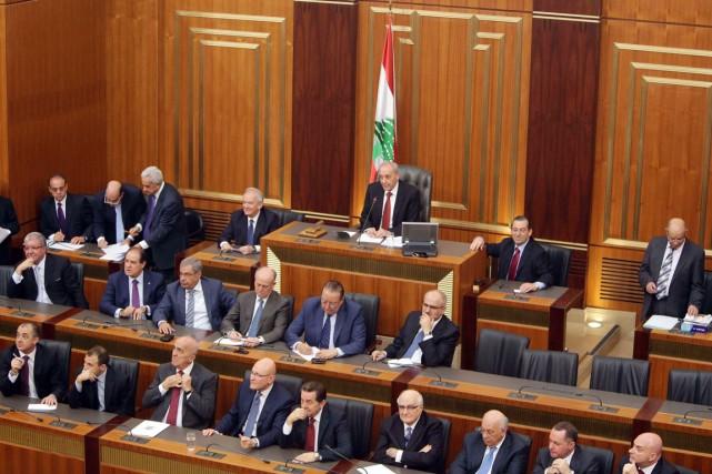 «En raison de l'absence de quorum, le président... (PHOTO JOSEPH EID, ARCHIVES AFP)
