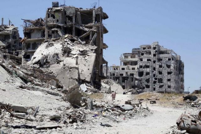 Cinq travailleurs humanitaires, enlevés en Syrie en janvier, ont été libérés, a... (Photo Reuters)