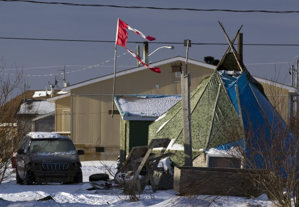 La communauté autochtone d'Attawapiskat, dans le nord de... (Photo Frank Gunn, archives La Presse Canadienne)