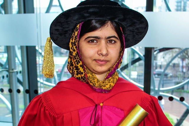 Malala Yousafzai a reçu un doctorat honorifique de... (Photo Université de King's College)