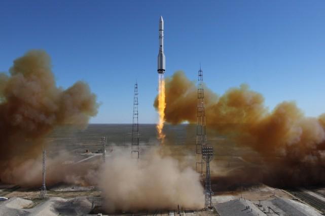 Lancement d'une fusée Proton en avril dernier.... (Photo archives AFP)
