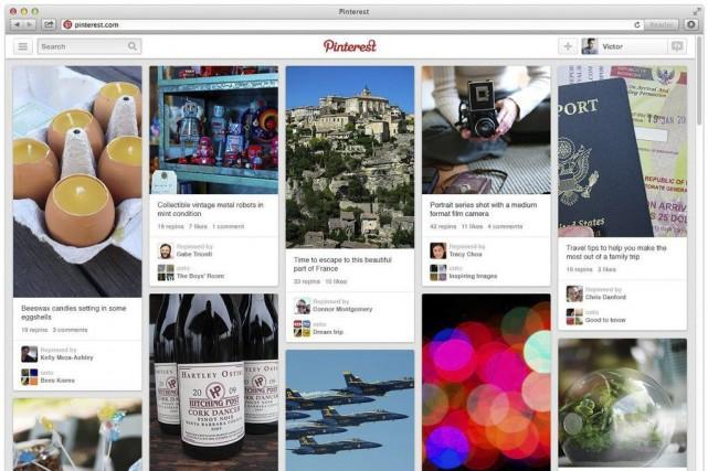 Pinterest ne divulgue pas son nombre d'utilisateurs, mais... (Photo AP)