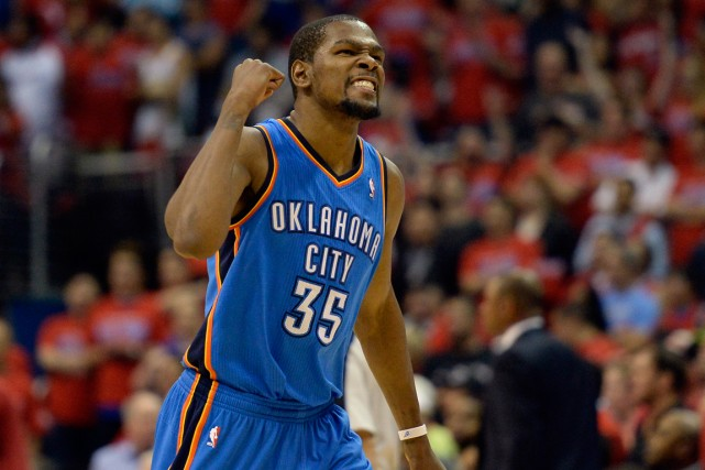 Kevin Durant et le Thunder d'Oklahoma City ont... (Photo Richard Mackson, USA Today)